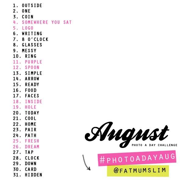 Photo A Day Challenges by Fat Mum - 98.7KB